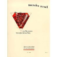RAVEL M. PIECE EN FORME DE HABANERA FLUTE