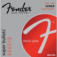 JEU DE CORDES GUITARE FENDER SUPER BULLETS 3250LR LIGHT REGULAR 009/046
