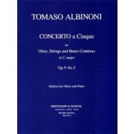 ALBINONI T. CONCERTO A CINQUE OP 9 N°5 HAUTBOIS