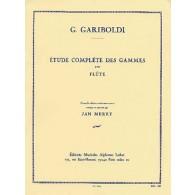 GARIBOLDI G. ETUDE COMPLETE DES GAMMES FLUTE