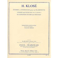 KLOSE H.E. EXERCICES JOURNALIERS CLARINETTE