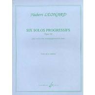 LEONARD H. SOLOS PROGRESSIFS OP 62 B LA MINEUR VIOLON