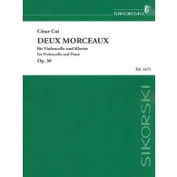 CUI C. DEUX MORCEAUX OP 36 VIOLONCELLE