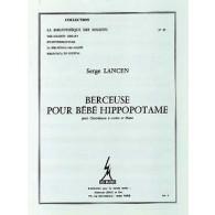 LANCEN S. BERCEUSE POUR BEBE HIPPOPOTAME CONTREBASSE