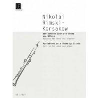 RIMSKY-KORSAKOV N. VARIATIONS SUR UN THEME DE GLINKA HAUTBOIS