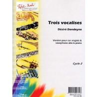 DONDEYNE D. TROIS VOCALISES COR ANGLAIS