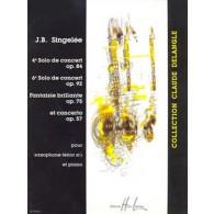 SINGELEE J.B. 4ME ET 6ME SOLO DE CONCERT SAXO SIB