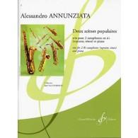 ANNUNZIATA A. SCENES POPULAIRES 2 SAXOPHONES SIB