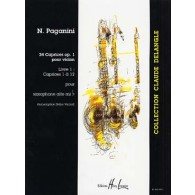 PAGANINI N. 24 CAPRICES OP 1 VOL 1 SAXO SOLO