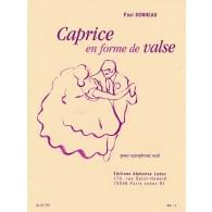 BONNEAU P. CAPRICE EN FORME DE VALSE SAXO MIB