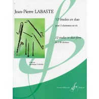 LABASTE J.P. 12 ETUDES EN DUO CLARINETTES SIB