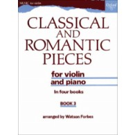 CLASSICAL AND ROMANTIC PIECES VOL 3 VIOLON