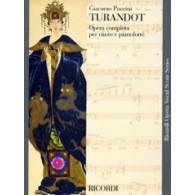 PUCCINI G. TURANDOT CHANT PIANO