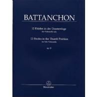 BATTANCHON F. 12 ETUDES OP 25 VIOLONCELLE