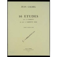 CALMEL J. 16 ETUDES CLARINETTE