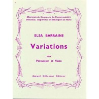 BARRAINE E. VARIATIONS PERCUSSION