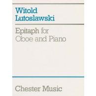 LUTOSLAWSKI W. EPITAPH HAUTBOIS