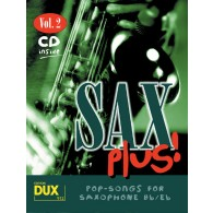 SAX PLUS VOL 2 POP SONGS SAXO ALTO OU TENOR