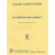 SAINT-SAENS C. LE CARNAVAL DES ANIMAUX PIANO 4 MAINS