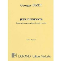 BIZET G. JEUX D'ENFANTS PIANO 4 MAINS