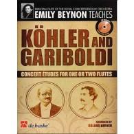 KOHLER E./GARIBOLDI G. CONCERT ETUDES UNE OU DEUX FLUTES