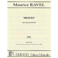 RAVEL M. MENUET SUR HAYDN PIANO