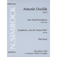 DVORAK A. SYMPHONIE N°9 OP 95 PIANO