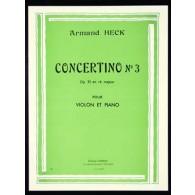 HECK A. CONCERTINO N°3 OPUS 33 VIOLON