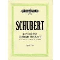 SCHUBERT F. IMPROMPTUS MOMENTS MUSICAUX PIANO