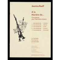 RUEFF J. A LA MANIERE DE .. CLARINETTE