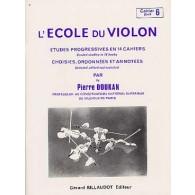 DOUKAN P. ECOLE DU VIOLON ETUDES PROGRESSIVES VOL 6