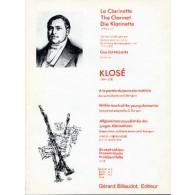 KLOSE H.E. A LA PORTEE DU JEUNE CLARINETTISTE VOL 5 CLARINETTE