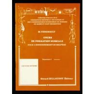 VERGNAULT M. COURS DE FORMATION MUSICALE E2