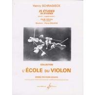 SCHRADIECK H. 25 ETUDES OPUS 1 VOL 1 VIOLON