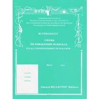 VERGNAULT M. COURS DE FORMATION MUSICALE MOYEN