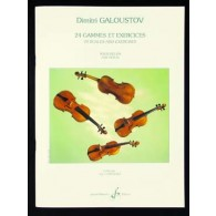 GALOUSTOV D. 24 GAMMES ET EXERCICES VIOLON