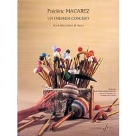 MACAREZ F. UN PREMIER CONCERT PERCUSSION