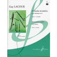 LACOUR G. 60 ETUDES RECREATIVES VOL 1 CLARINETTE