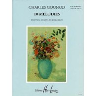 GOUNOD C. 10 MELODIES VOIX MOYENNES
