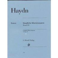 HAYDN J. SONATES VOL 3 PIANO