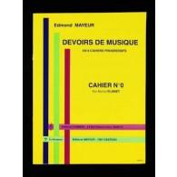 MAYEUR E. DEVOIRS DE MUSIQUE CAHIER 0