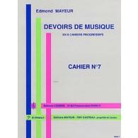 MAYEUR E. DEVOIRS DE MUSIQUE CAHIER 7