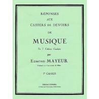 MAYEUR E. REPONSES DEVOIRS DE MUSIQUE CAHIER 7