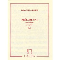 VILLA-LOBOS H. PRELUDE N°4 GUITARE