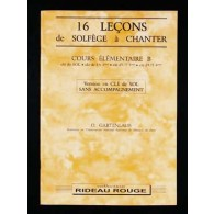 GARTENLAUB O. 16 LECONS DE SOLFEGE A CHANTER CLE SOL ELEMENTAIRE B