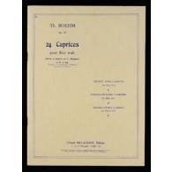 BOEHM T. 24 CAPRICES OP 26 FLUTE