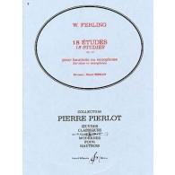 FERLING W./PIERLOT P. ETUDES OP 12 HAUTBOIS