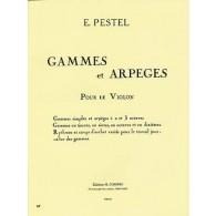 PESTEL E. GAMMES ET ARPEGES VIOLON