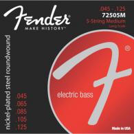JEU DE 5 CORDES BASSE ELECTRIQUE FENDER 72505M 45/125