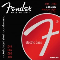 JEU DE CORDES BASSE ELECTRIQUE FENDER 7250ML MEDIUM LIGHT LONG SCALE 045/100